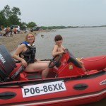 STIGA на борту лодки - поехали!!!