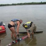 Первый выезд на водных лыжах