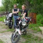 Парни с Киева на своих мотоциклах